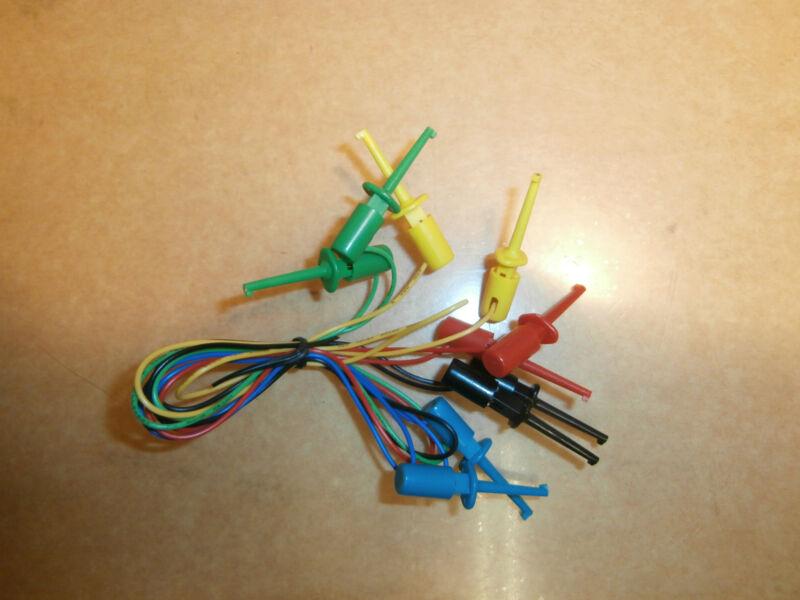 "Philmore 500 Mini Hook Grabber IC Test Leads,Set of 5 Colors,16"" Long,New"