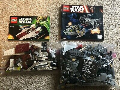 LEGO Star Wars Lot Sets 75003 & 75150 A-Wing - *NO MINIFIGURES*