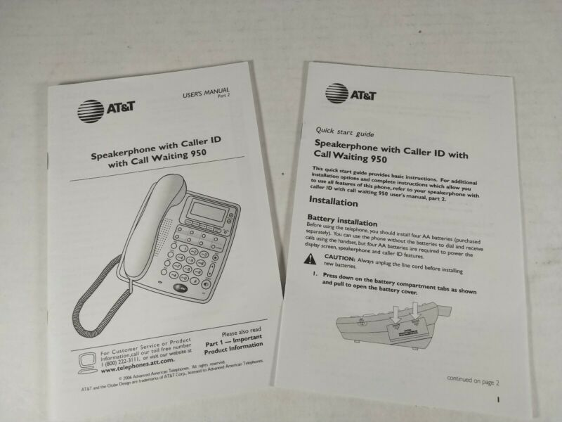 AT&T 950 Speakerphone User
