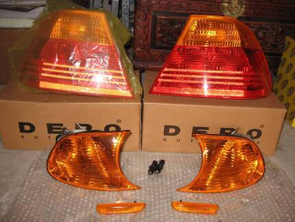 BMW E46 COUPE  TAIL SIDE FRONT ORIGINAL LIGHTS COVERS