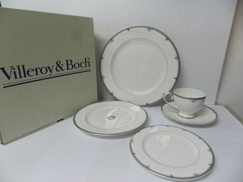 Villeroy & Boch Antibes Bone China 5 pc Place Setting New in Box