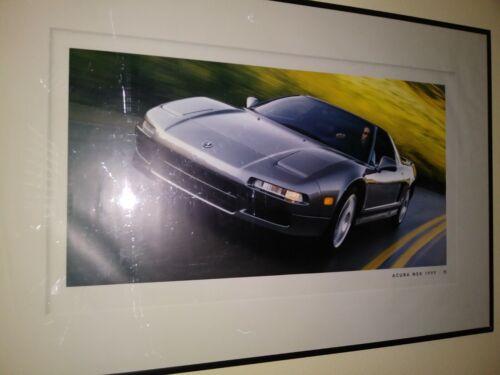 1999 Acura NSX dealership showroom advertising poster