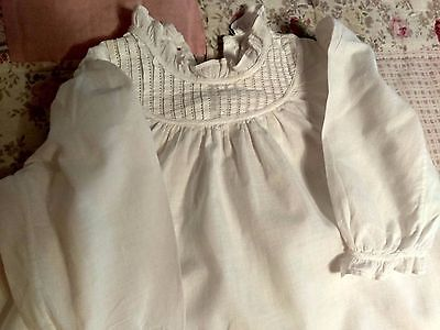 VINTAGE 1900s ANTIQUE VICTORIAN BABY CLOTHING COTTON DRESS  GOWN BABY OR DOLL