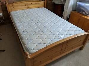Wooden Double Bed with usable mattress Plus 2 Side Tables