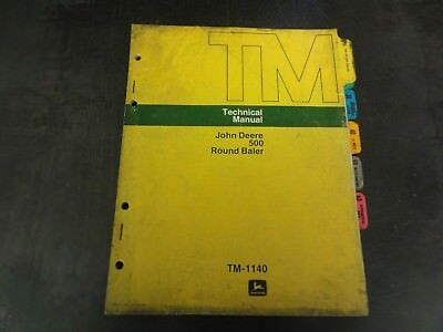 John Deere 500 Round Baler Technical Manual Tm-1140