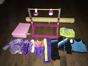 American girl doll gymnastics set/ clothes