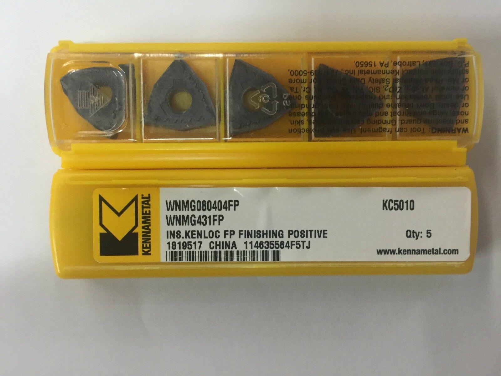 KENNAMETAL VNMG331FP KC5010 VNMG160404FP KC5010 Carbide Inserts 10Pcs NEW