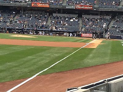 2 - Front Row Field Level Section 130 New York Yankees Tickets v Seattle 5/22/20