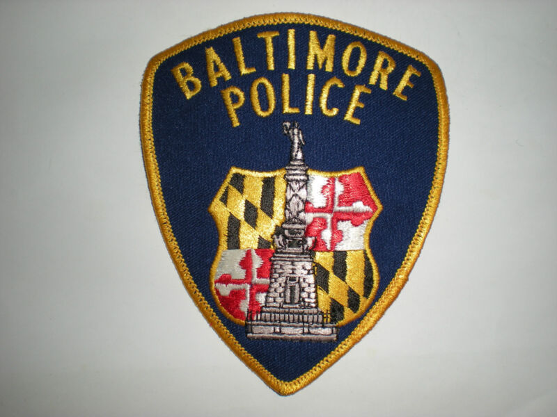 BALTIMORE, MARYLAND POLICE DEPARTMENT PATCH