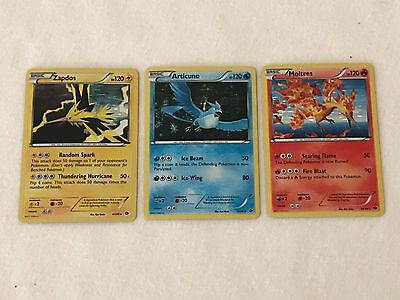 Pokemon 3 Legendary Birds B&W Next Destinies Articuno, Moltres, Zapdos Holo