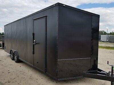 Enclosed Cargo Trailer 8.5x24 8.5 X 24 Ta Matte Blackout Car Hauler 20 22