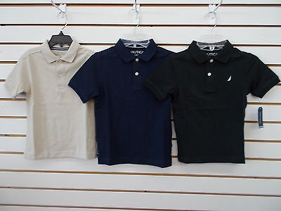 Boys Nautica $26.50 Sand Cove, Navy, or Black Polo Shirts Sizes 2T - 7X