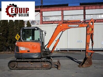 Doosan Dx60r Mini Midi Excavator Loader Enclosed Cab Diesel