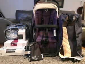 Navy blue/ Pink Bugaboo Frog with many extras