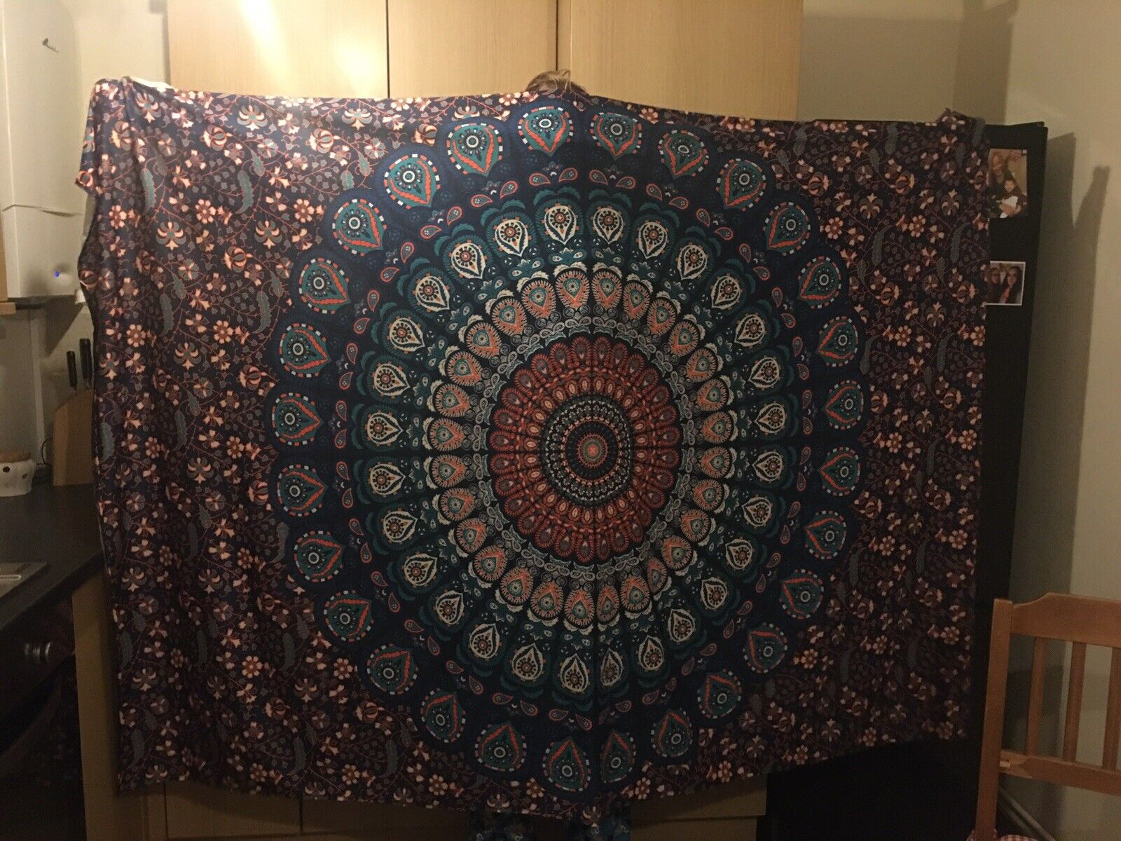 Blue and Orange Tapestry Used
