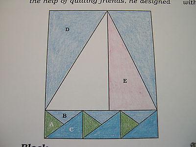 Sailboat Race Quilt Pattern Spinning Spools w/uncut plastic templates