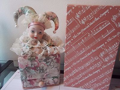 San Francisco Music Box Co Clown Jester Somewhere in Time Collectible 1989 in Bx