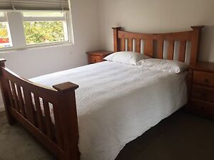 Solid Timber Queen Bed and 2 Bedside Tables Rosebery Inner Sydney Preview