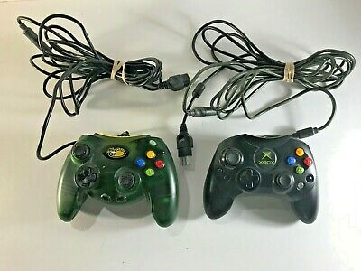 TWO GAME CONTROLLERS - XBOX CONTROLLER S AND MAD CATZ #4516  CONTROL PAD for sale  Shipping to India