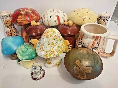 Huge Ceramic Mushroom Lot Most Vintage w/ a Couple Modern Some Arnel's 1970s