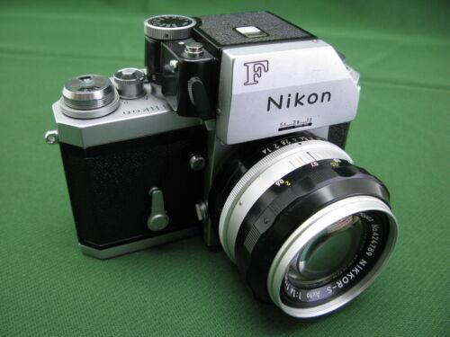 Nikon F Photomic 35mm Camera + 55mm f1.4 Nikkor S Lens Ex++