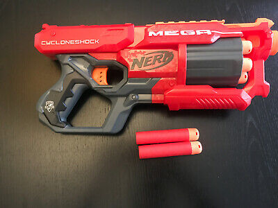 NERF N-strike Elite Mega CycloneShock Blaster Perfect Condition