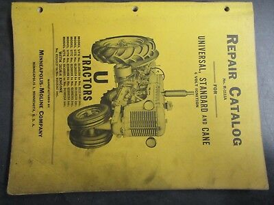 Minneapolis Moline U Universal Standard Cane 6 Volt Repair Catalog