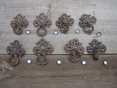 8 Salvaged Vintage Solid Metal Drawer Handle Pull Salvage One Has Different Pull