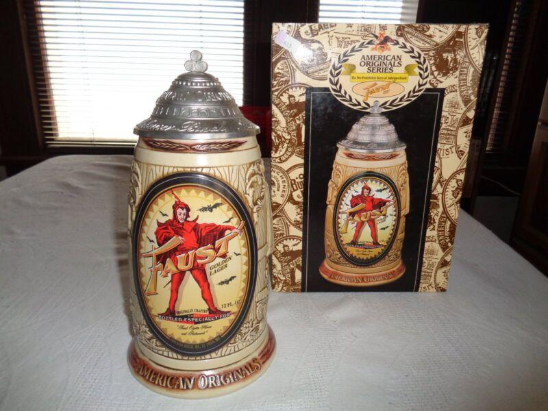 Anheuser Busch American Originals Series Faust Golden Lager 1998 Stein