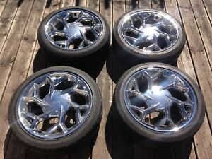 "17"" chrome rim/tire set (215/45/17), $400  4x100, 4x114.3"