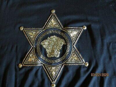 Versace Mens Black Medusa Head T-Shirt - 5XL - Embroidered & Embellished in Gold