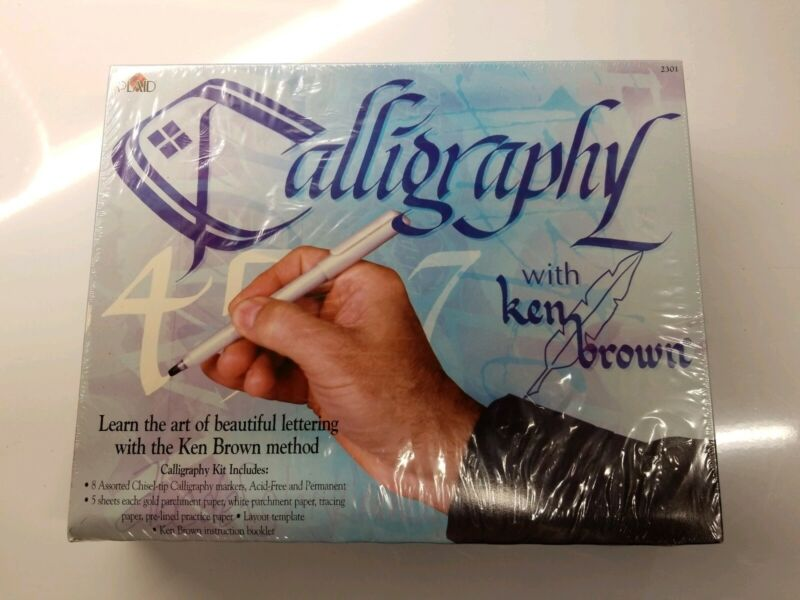 Plaid Calligraphy Kit With Ken Brown, Factory Sealed! NIB! No. 2301