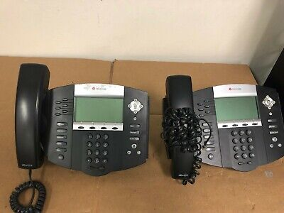 Polycom Soundpoint Ip 650 Voip Office Business Phone Lot Of 2