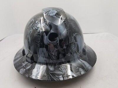 Full Brim Hard Hat Custom Hydro Dipped New Paradise Lost Skulls Gunmetal New