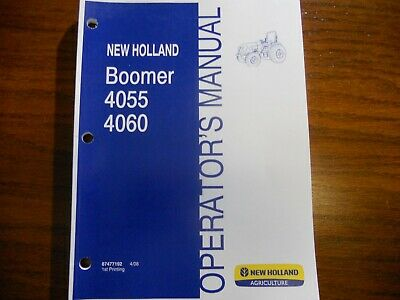 New Holland Boomer 4055 4060 Tractor Operators Manual Free Shipping In Usa