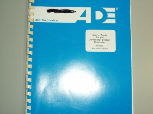 ADE users guide for the Advanced System Controller
