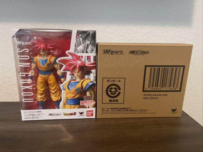 SH Figuarts Super Saiyan God Son Gokou With Brown Box!!!