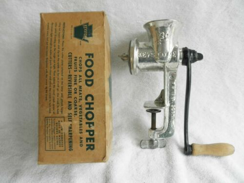 Vintage Keystone Food Chopper/Meat Grinder #20 w/ Original Box
