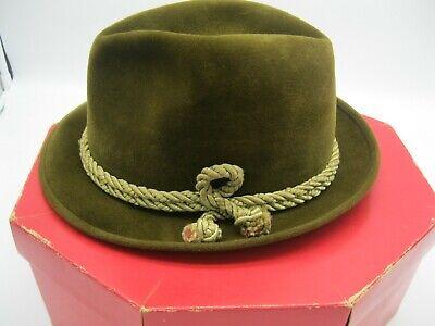 1950s Mens Hats | 50s Vintage Men's Hats Vintage 1950's Men's Fur Felt Fedora Original Box A.M.&A Store Buffalo New York $175.00 AT vintagedancer.com