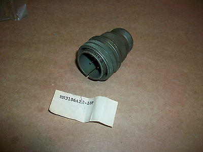 Amphenol Ms Military Connector Ms3106a22-10p 4 Pin Male  New