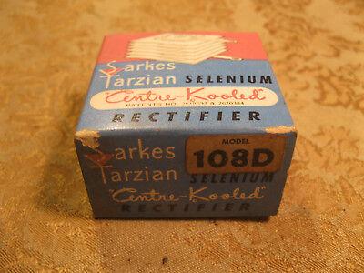Vintage Nos Nib Selenium Rectifier Sarkes Tarzian Model 108d 100ma 160v Max