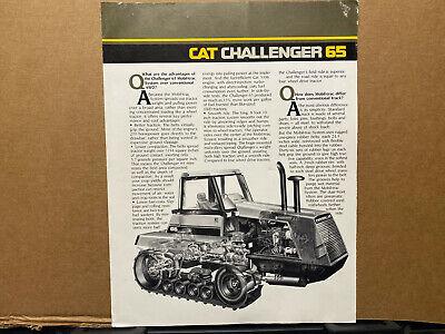 Caterpillar Challenger 65 Tractor Brochurecatalog 1990s