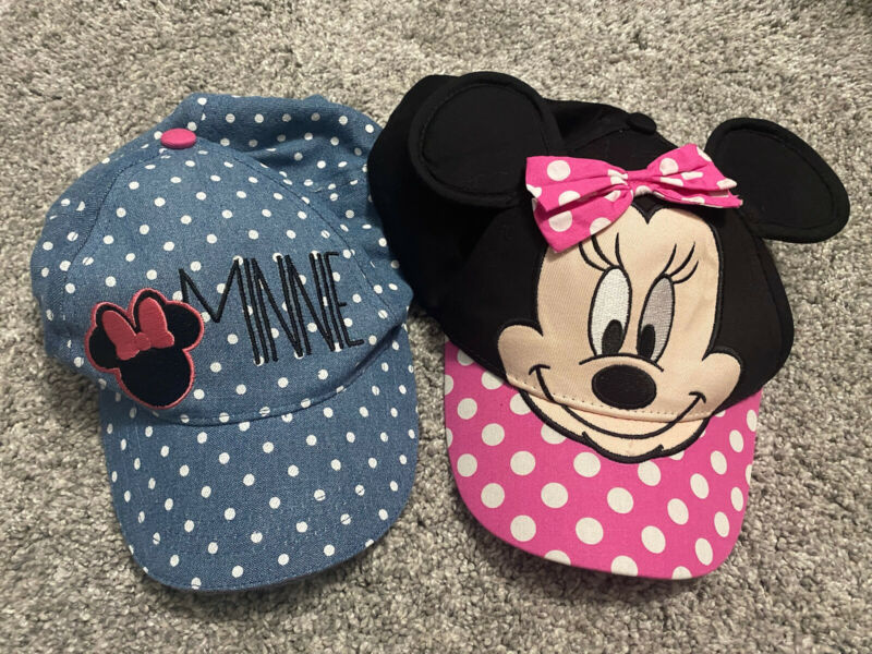 Disney Minnie Mouse Girls Pink Baseball Hat Cap Adjustable Kids Toddler Age Gift