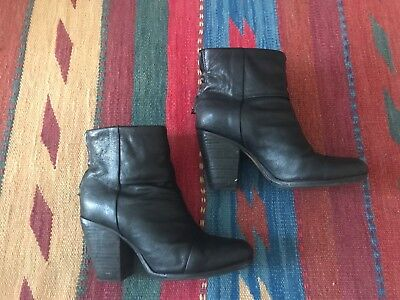 Stivaletti neri RAG & BONE Newbury Classic black ankle boots Sienna Miller 37
