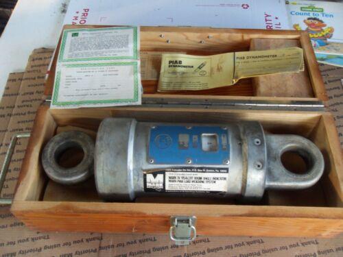 MARK XV VISALERT BOOM ANGLE INDICATOR PIAB DYNAMOMETER 11000 lb WITH WOOD BOX