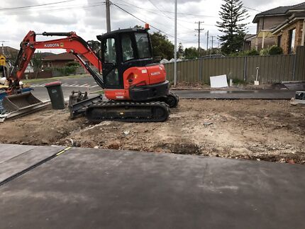 Excavation narrow access soil removal concrete removal