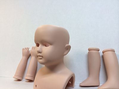Unpainted bisque doll-making kits lot of 2