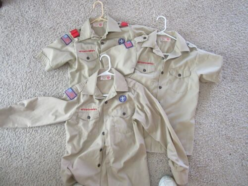 Boy Cub Scouts of America Tan Shirts YOUTH MEDIUM Your Choice of Style