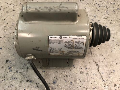 General Electric 3/4HP Single Phase Motor Running
