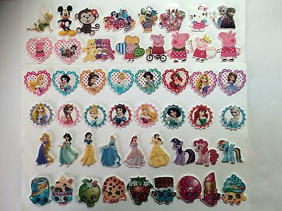 50 Pcs Mixed Lot Flatback Resin Cabochon Hair Bow Center Supplies.